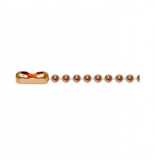 Copper Faceted Chain・キューリンクカッパーパステッドチェーン